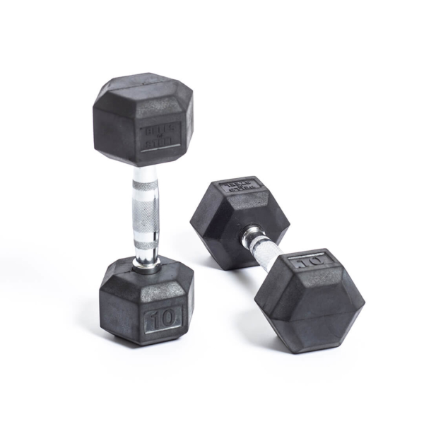 Rubber Hex Dumbbell 10lbs