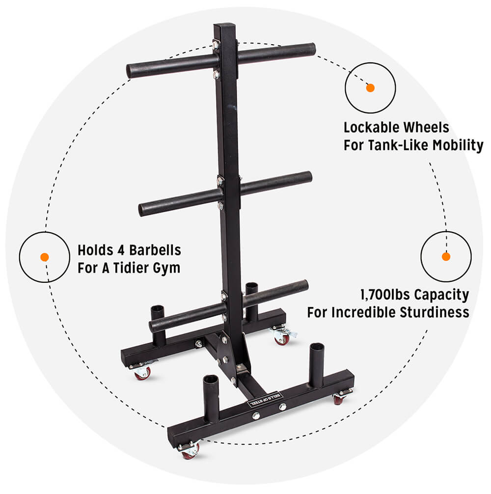 Bumper Plate Tree and Bar Holder 2.0
