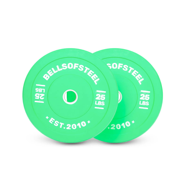 Colored Bumper Plates Pair of 25 lbs