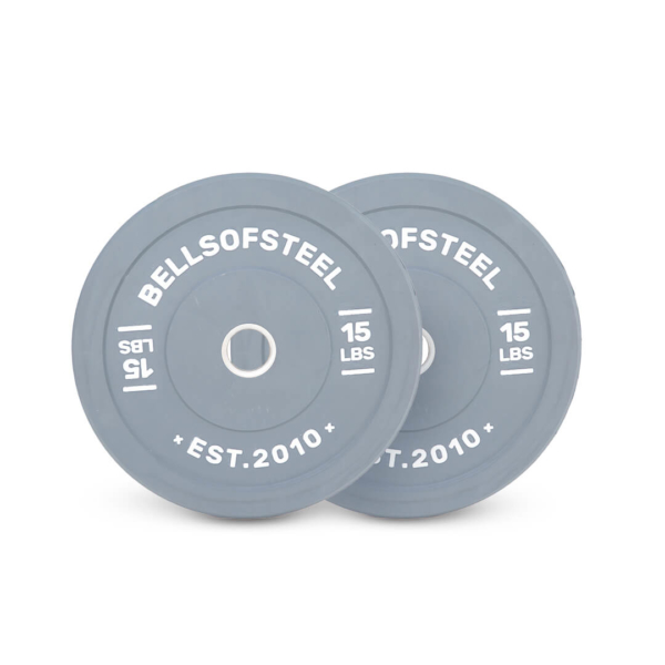Colored Bumper Plates pair of 15 lbs